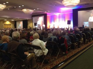 Call to Action plenary session, attended by Fr. Jim