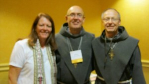 Rev. Mary Rammerman, Spiritus Christi, with Fr. Jim and Br. Charles Harster