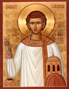 St. Stephen, protomartyr, first deacon, and patron saint of deacons